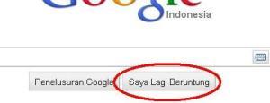 Saya Lagi Beruntung di pencarian google